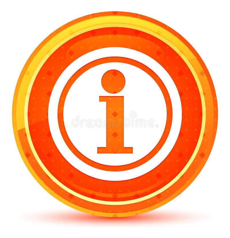 De natuurlijke oranje ronde knoop van het informatiepictogram vector illustratie