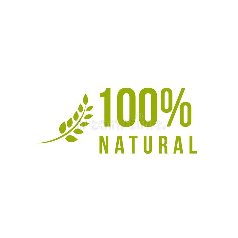 100% de natuurlijke Vectorillustratie van het Malplaatjeontwerp royalty-vrije illustratie