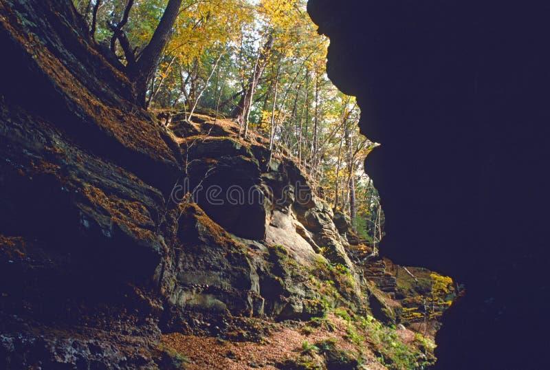De nauwe vallei van Parfrey stock fotografie