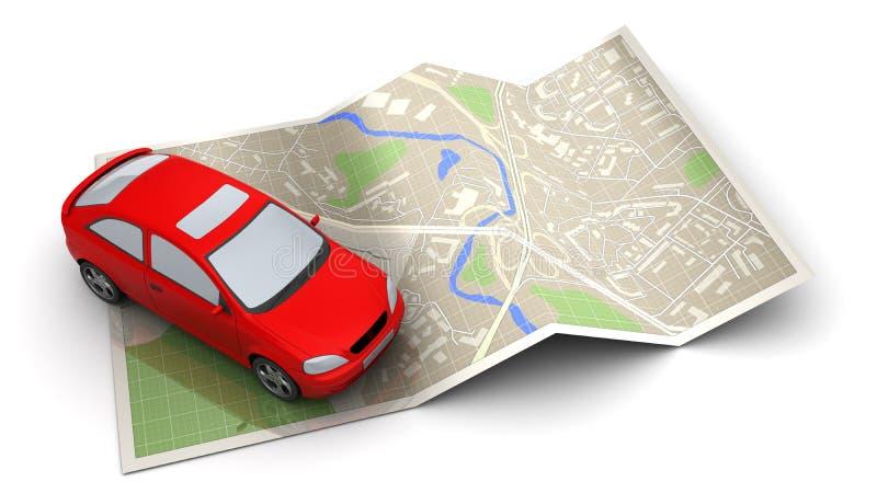 De Navigatie van de auto royalty-vrije illustratie