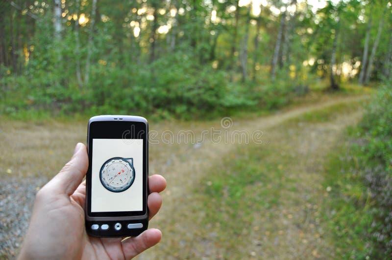 De navigatie van Smartphone royalty-vrije stock afbeelding