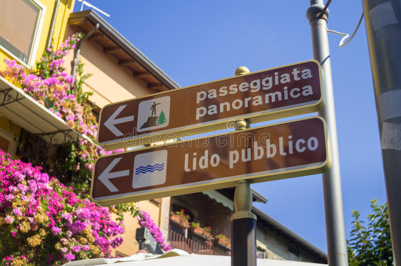 De navigatie voorziet in Italië van wegwijzers royalty-vrije stock afbeelding