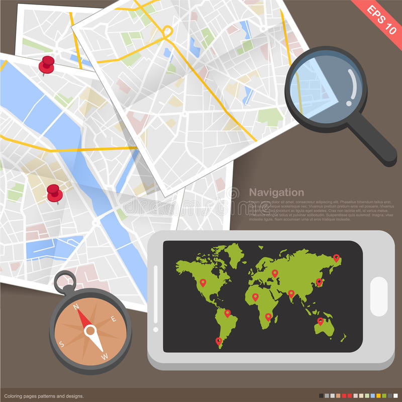 De navigatieconcept van de Infographics mobiel toepassing vector illustratie