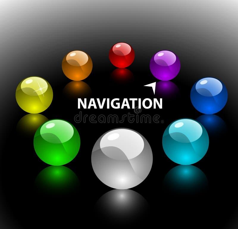 De navigatiemalplaatje 2 van het Web (op vloer) stock illustratie