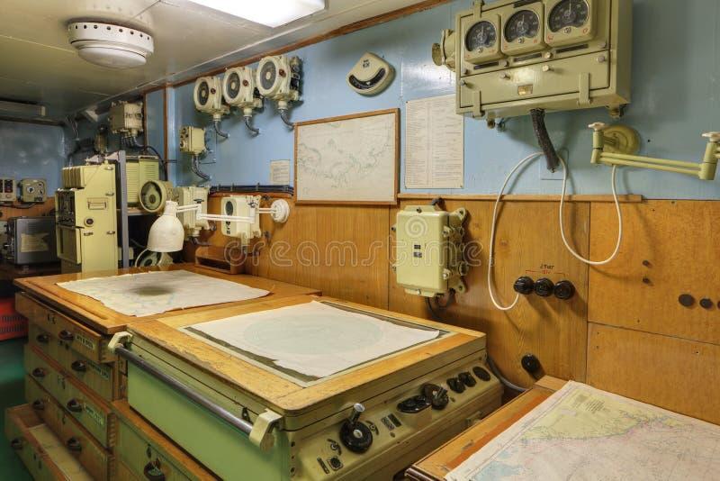 De navigator pilothouse stock afbeelding