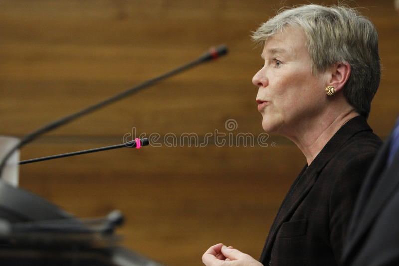 De NAVO Afgevaardigde Secretaris-generaal Rose Gottemoeller stock foto