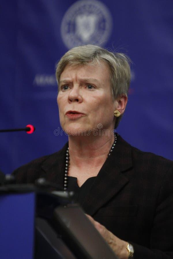 De NAVO Afgevaardigde Secretaris-generaal Rose Gottemoeller royalty-vrije stock foto