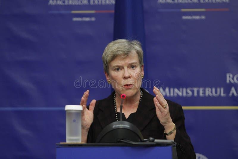 De NAVO Afgevaardigde Secretaris-generaal Rose Gottemoeller stock afbeeldingen