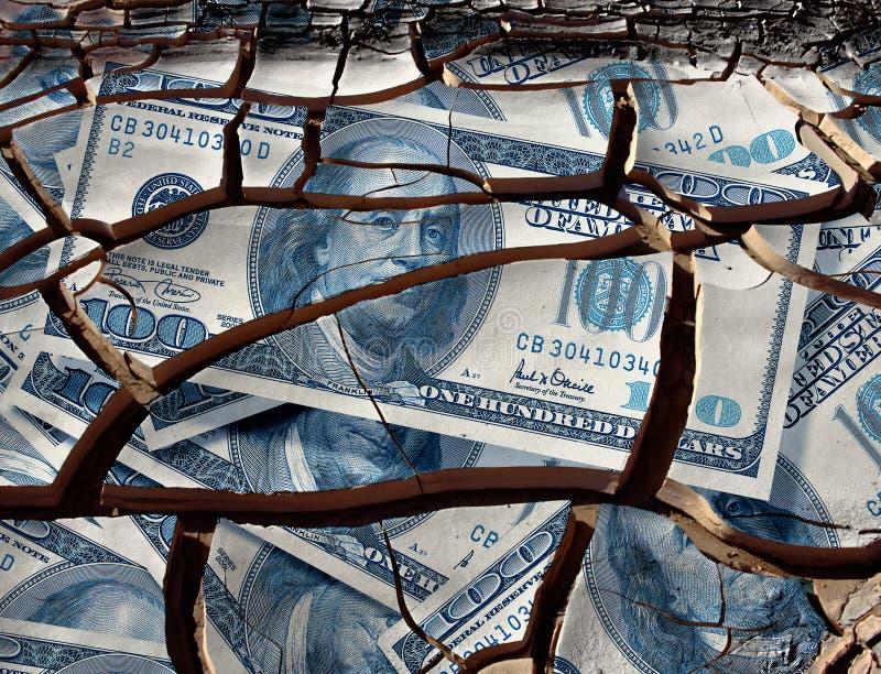De neerstorting van de dollar stock foto's