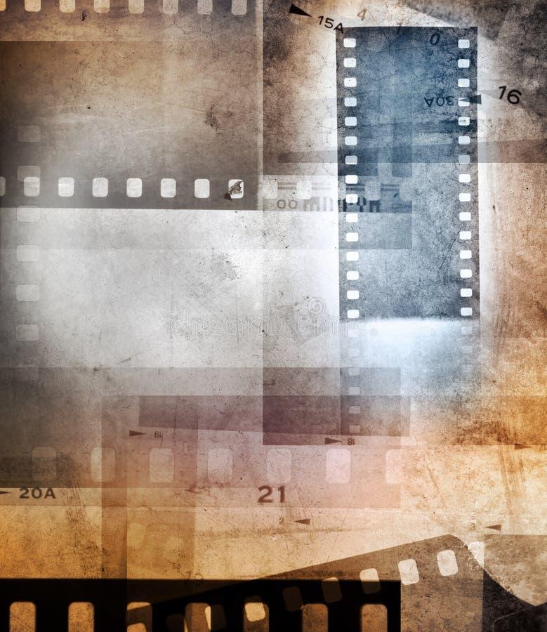 De negatieve achtergrond van de film stock illustratie