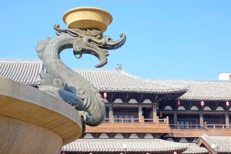 De negen-Draak Muur (Jiulongbi) bij Beihai-park, Peking, China royalty-vrije stock afbeeldingen