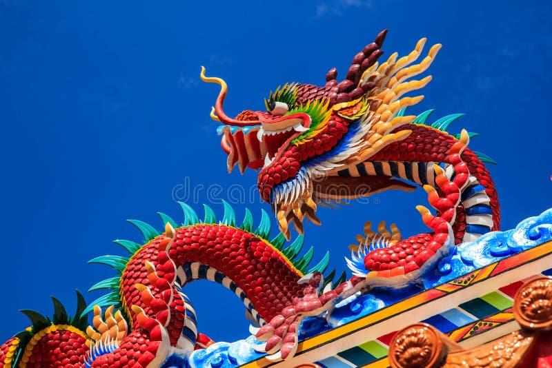 De negen-Draak Muur (Jiulongbi) bij Beihai-park, Peking, China stock foto's