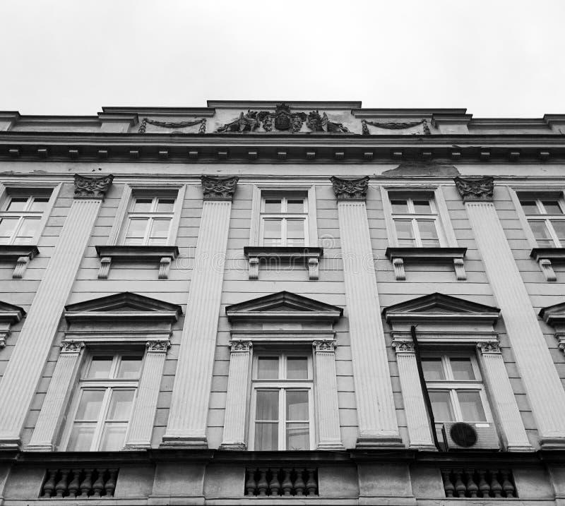 De neoklassieke Universitaire bouw stock afbeelding