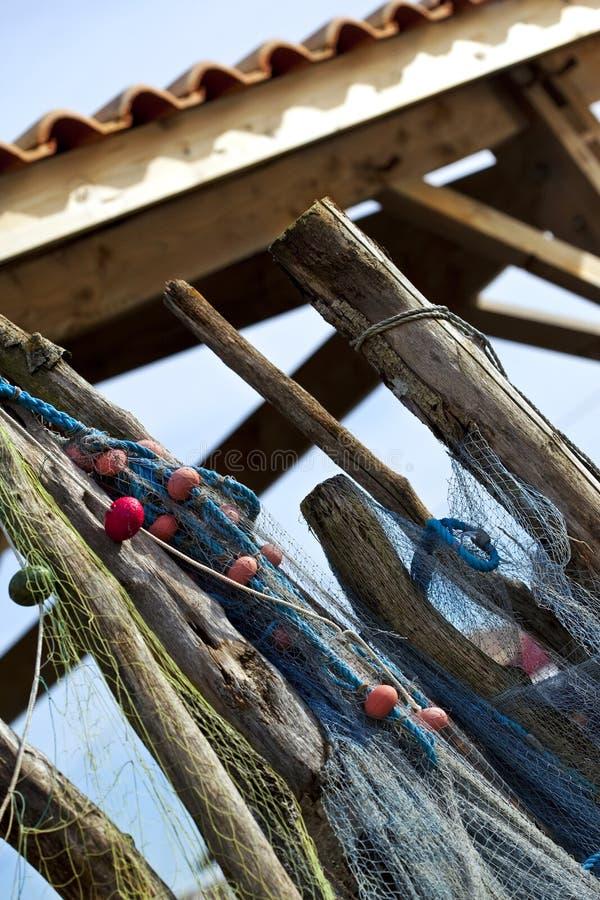 De netten van de visserij en boeien royalty-vrije stock fotografie