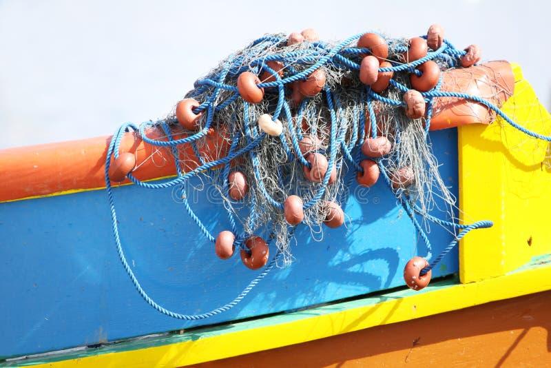 De netten van de visserij op een boot royalty-vrije stock foto