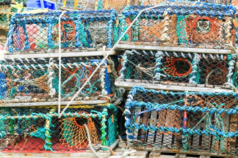 De netten van de zeekreeftkrab royalty-vrije stock afbeeldingen