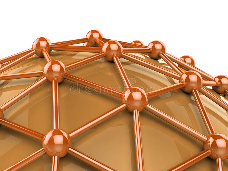 De netwerkcomputer wijst op Globale Mededelingen en Globalize stock illustratie