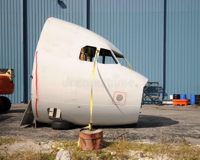 De neusstructuur van het vliegtuig royalty-vrije stock afbeelding