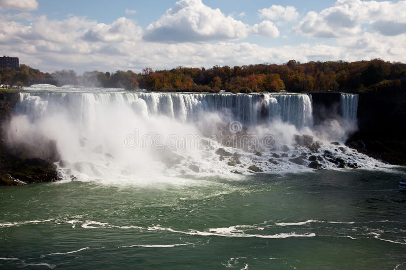 De Nevel Autumn View Buffalo America van Niagaradalingen stock foto's