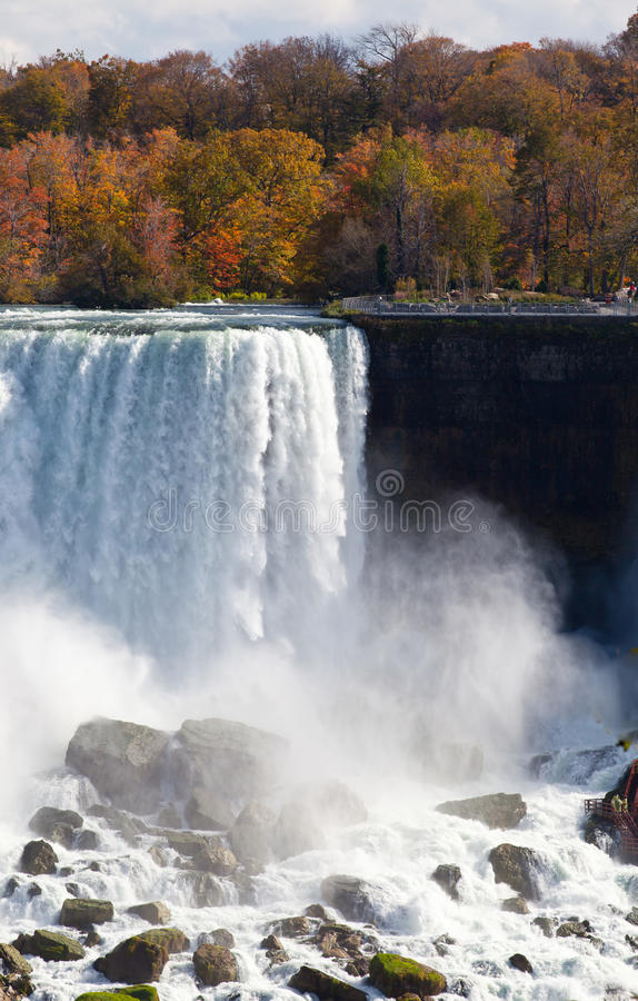 De Nevel Autumn View Buffalo America van Niagaradalingen stock afbeeldingen