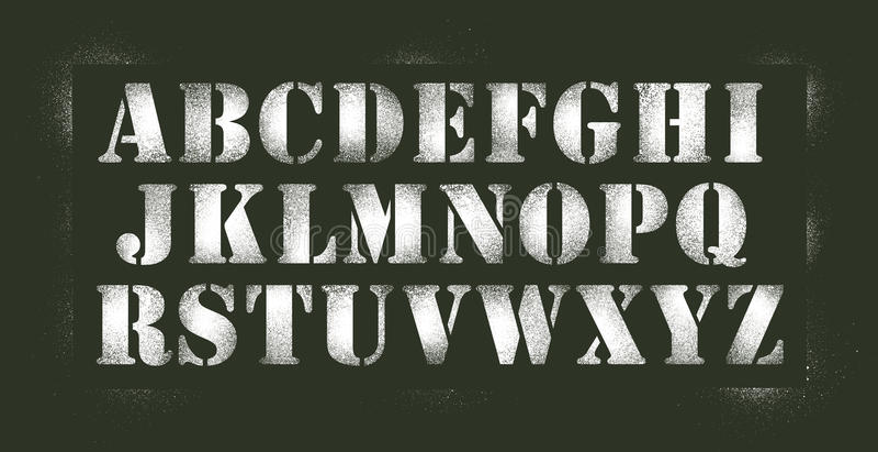 De nevel van de alfabetstencil vector illustratie
