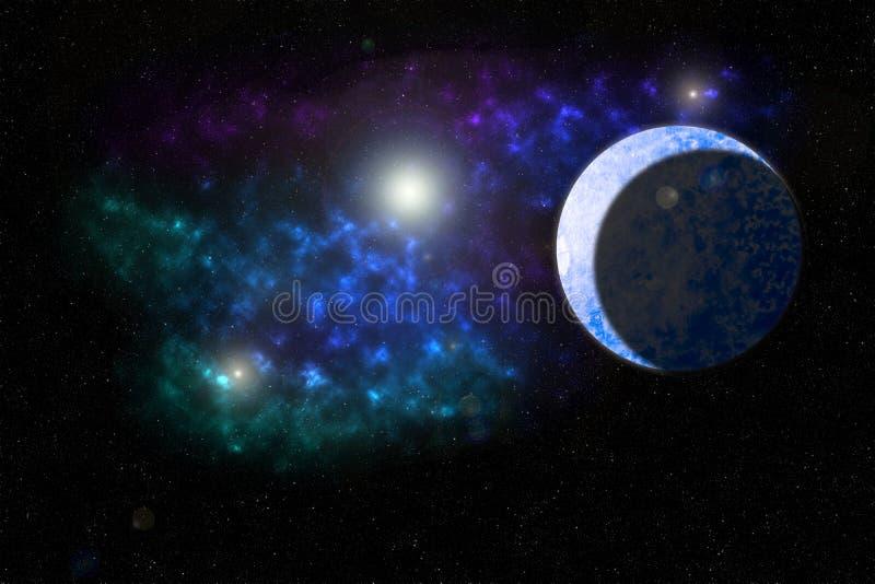 De Nevel van de ijsplaneet stock foto