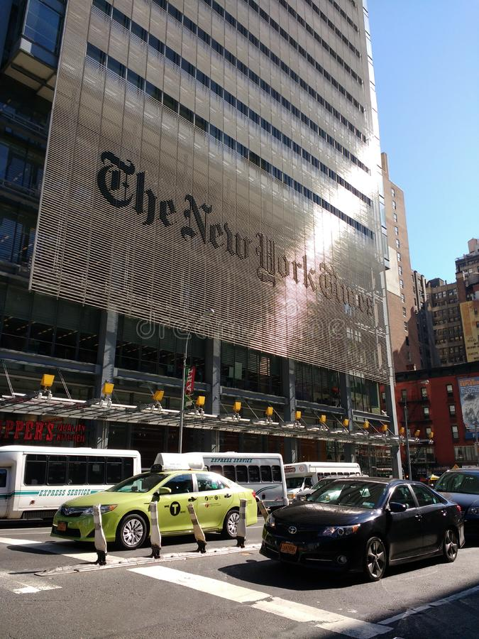De New York Times-Bouw, NYC, NY, de V.S. stock fotografie