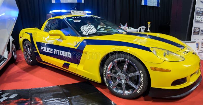 De niet echte politiewagen van Israël - Chevrolet-Korvet stock afbeeldingen