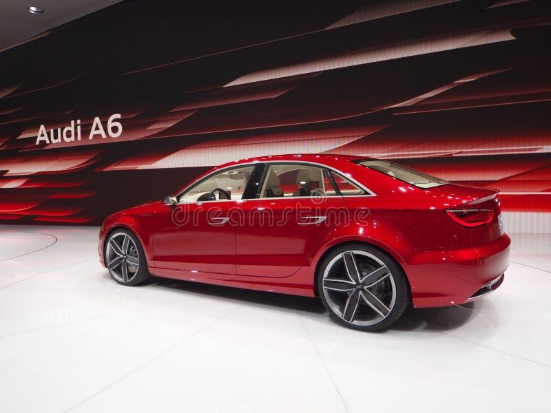 De nieuwe A6 Première van de Wereld Audi stock fotografie