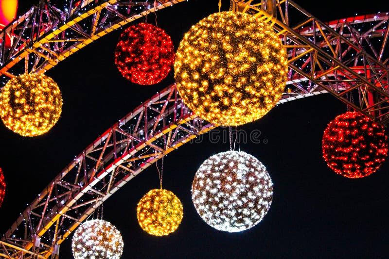 De nieuwe ballen van de jaardecoratie stock fotografie
