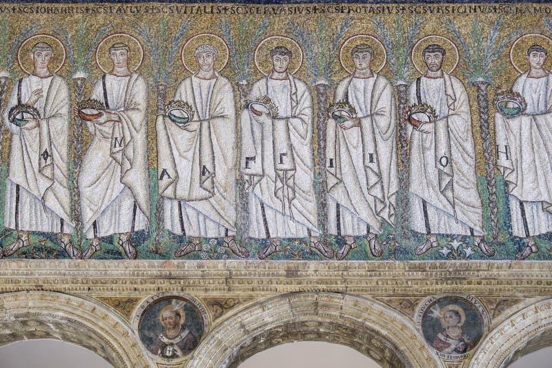 De nieuwe basiliek st van Ravenna Emilia-Romagna Italië Europa apollinare royalty-vrije stock afbeelding