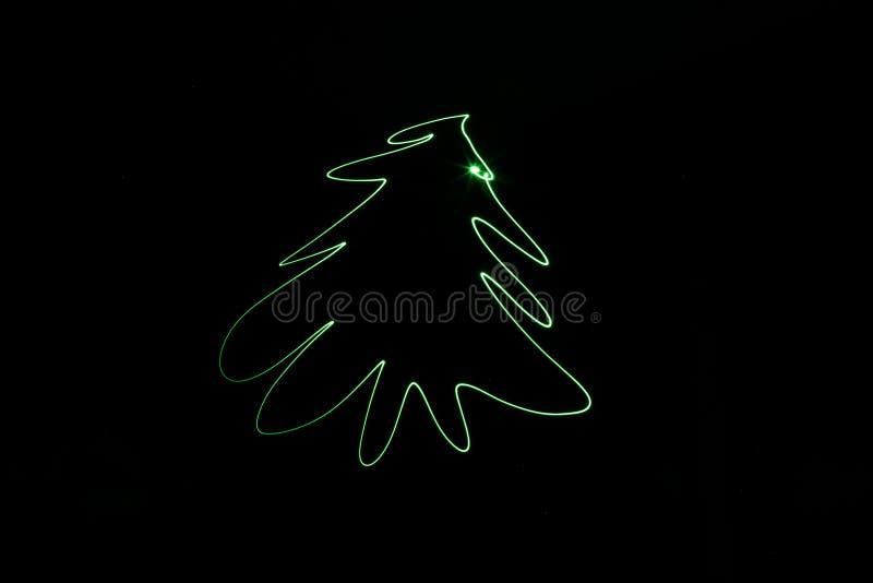 De nieuwe blootstelling van de de vakantieboom van jaarkerstmis groene stock illustratie