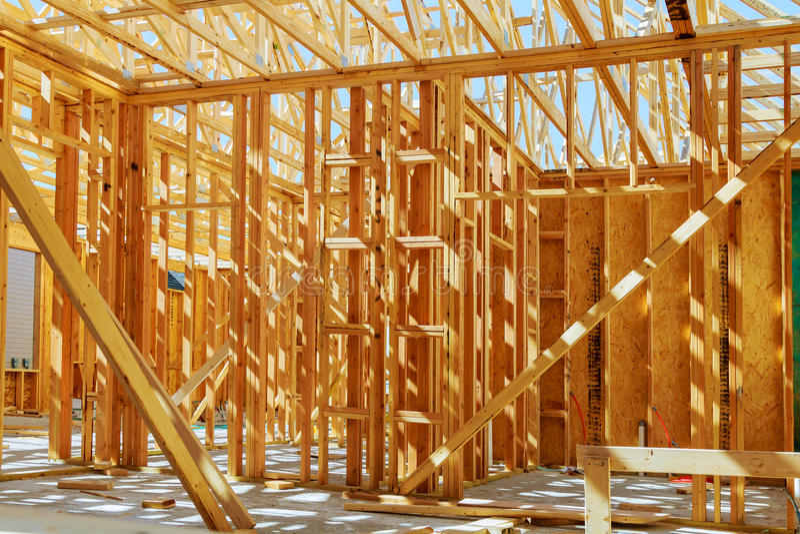 De nieuwe bouw van een huis ontwierp Nieuwe Bouw royalty-vrije stock foto