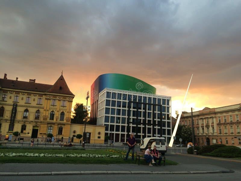 De nieuwe bouw van Muziekacademie in Zagreb, Kroatië royalty-vrije stock fotografie