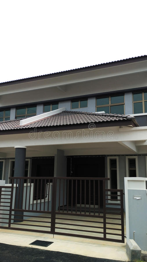 De nieuwe Buitenkant van het Huis van het Huis stock afbeelding