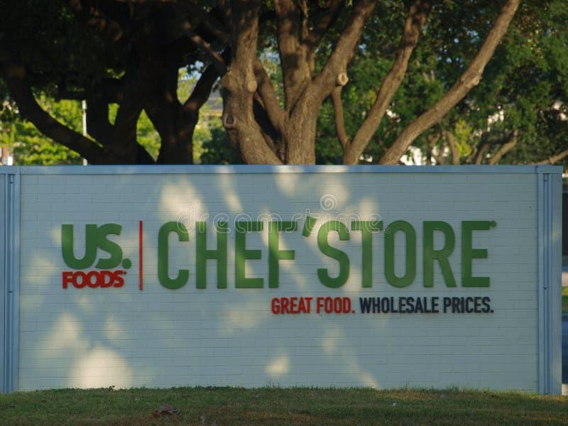 De nieuwe Chef-kok` Opslag opent in Dallas royalty-vrije stock afbeelding
