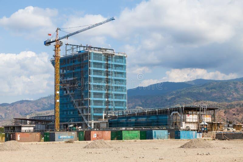 De nieuwe consctuctionbouw in Dili - kapitaal van Oost-Timor stock afbeelding