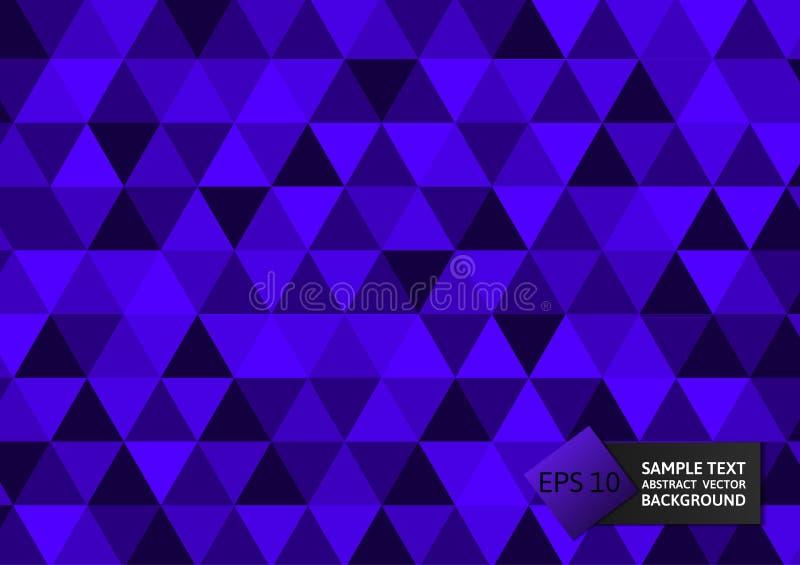 De nieuwe driehoeken van de ontwerp purpere kleur vatten modern ontwerp als achtergrond, Vectorillustratie eps10 samen royalty-vrije illustratie