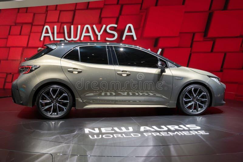 De nieuwe Hybride auto van Toyota Auris van 2018 stock foto