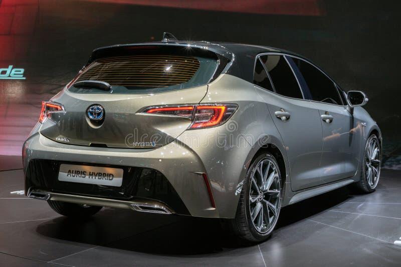 De nieuwe Hybride auto van Toyota Auris van 2018 stock afbeeldingen