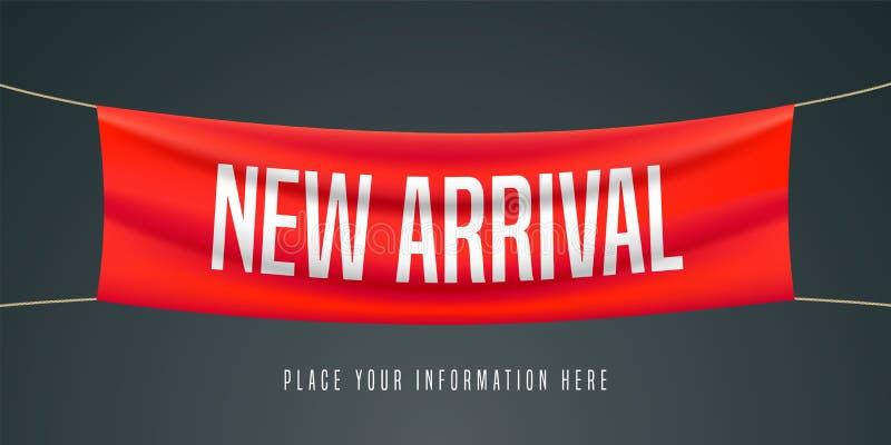 De nieuwe illustratie van de aankomstvector, banner stock illustratie