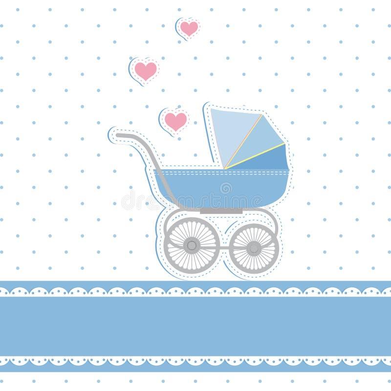 De nieuwe kaart van de de doucheuitnodiging van de babyjongen vector illustratie