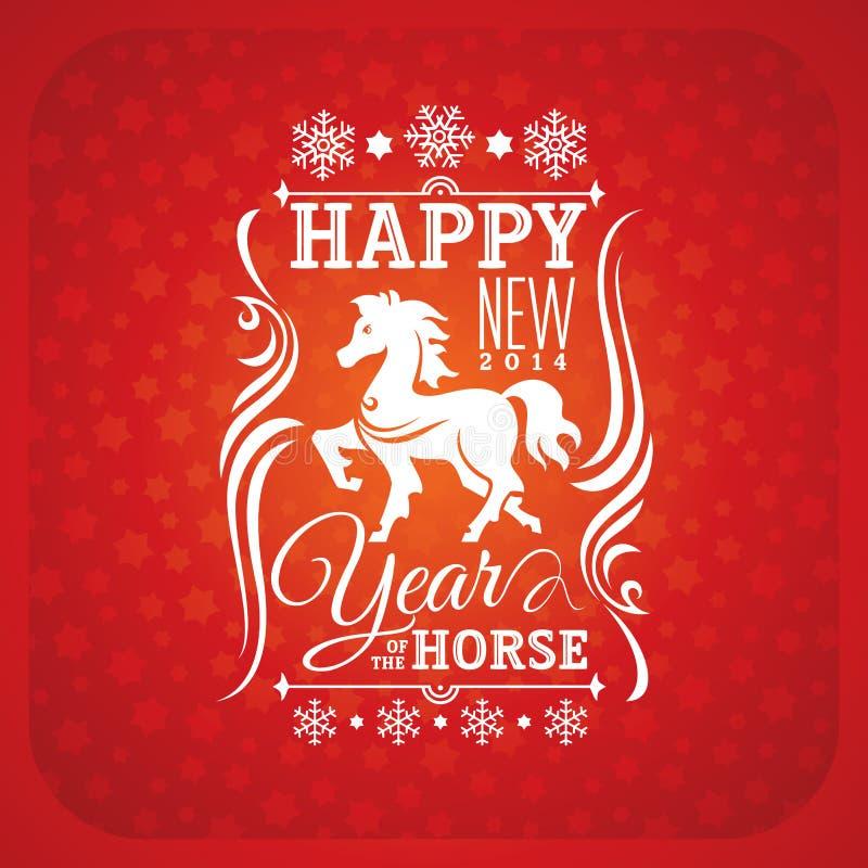 De nieuwe kaart van de jaargroet met paard