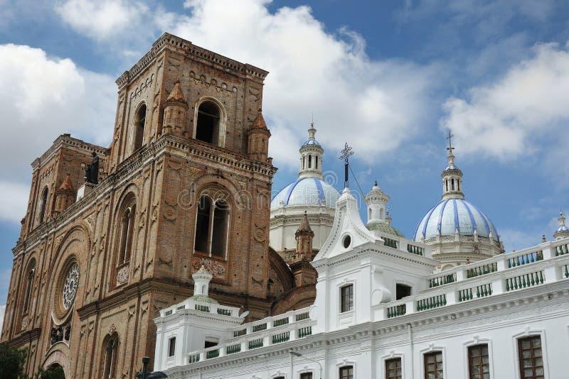 De Nieuwe Kathedraal in Cuenca Ecuador royalty-vrije stock afbeeldingen