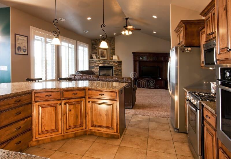 De nieuwe Moderne Keuken van het Huis royalty-vrije stock foto's