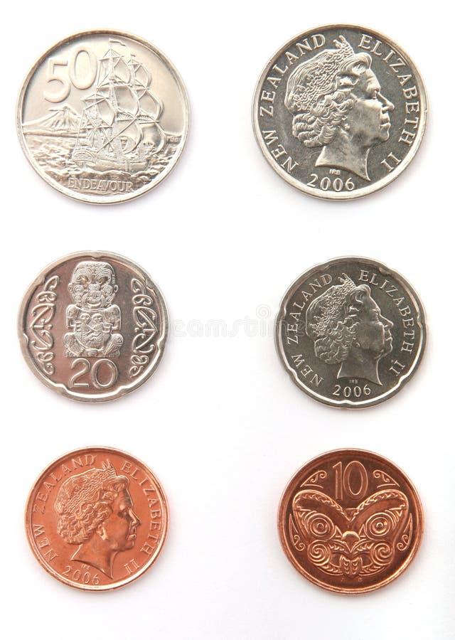 De nieuwe muntstukken van de Kiwi royalty-vrije stock foto's