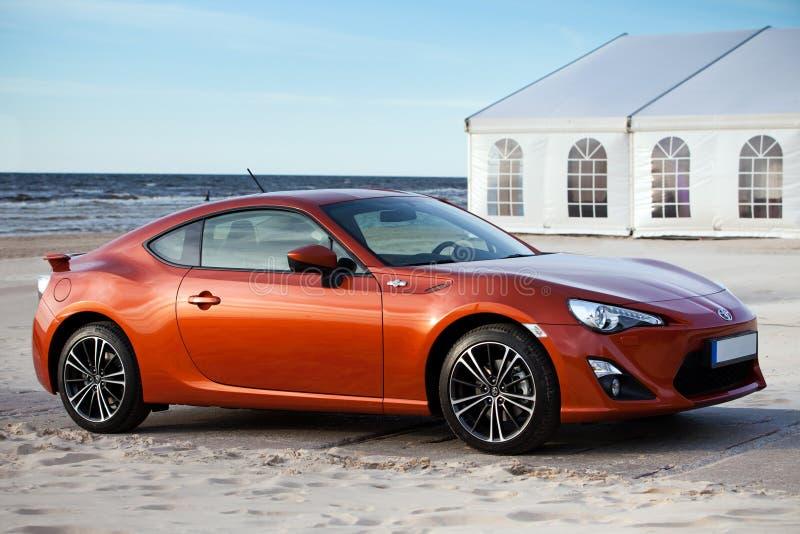 De nieuwe Sportwagen van Toyota stock foto's