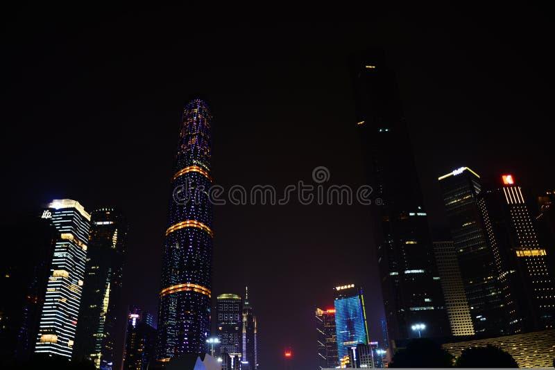 De nieuwe stad van Zhujiang stock foto