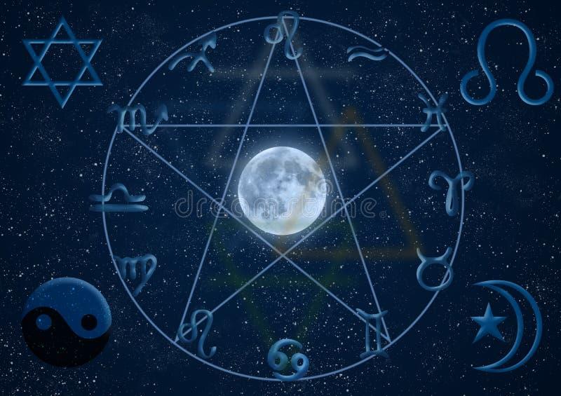 De nieuwe Symbolen van de Leeftijd stock illustratie