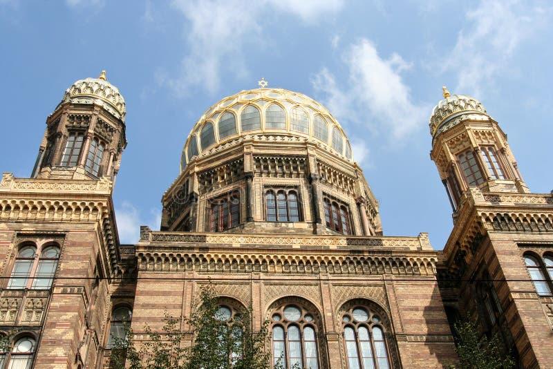 De Nieuwe Synagoge van Berlijn stock afbeelding